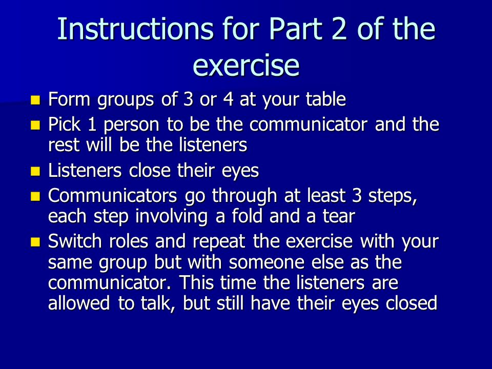 Instructions for Part 2 of the exercise