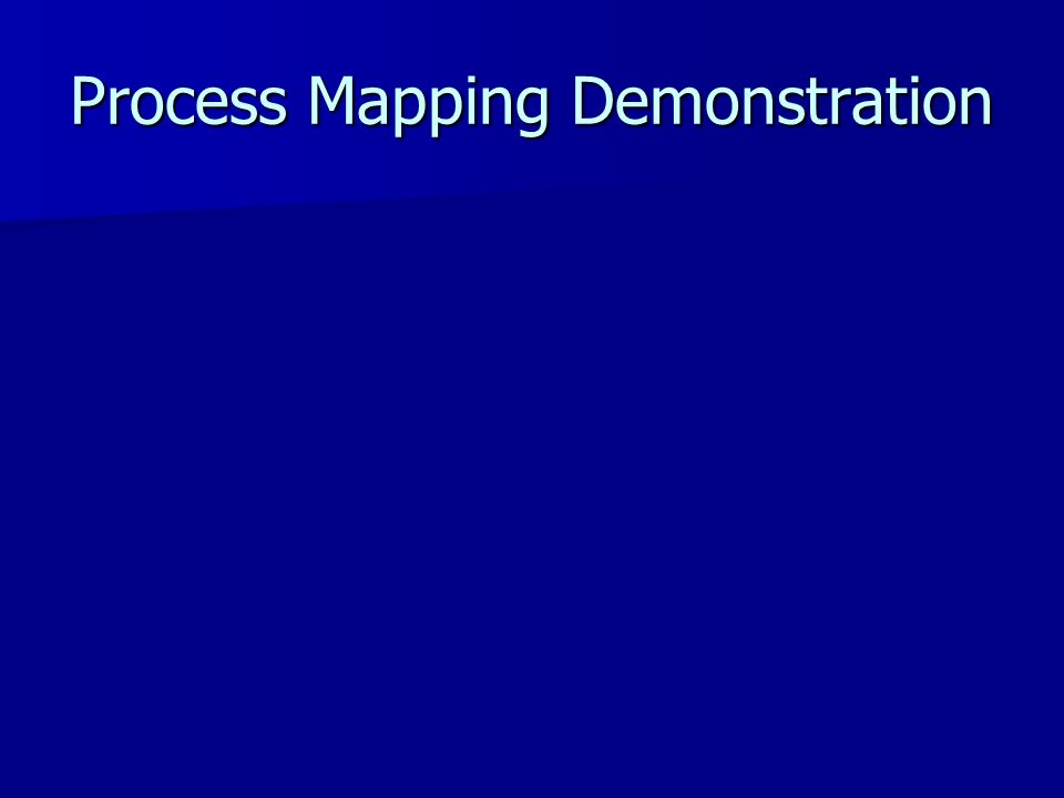 Process Mapping Demonstration