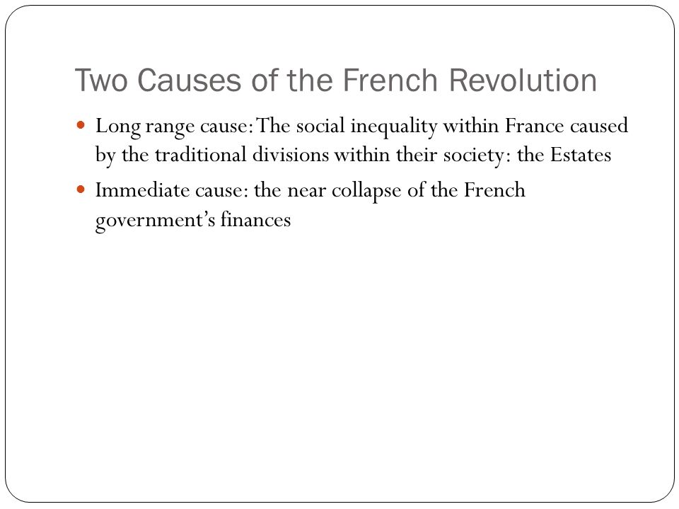 immediate cause of french revolution