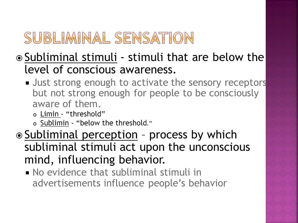 subliminal stimuli examples