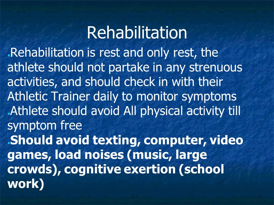 Return to play · Once an athlete is symptom free for a minimum of 24 hours then the return to play progression can begin.