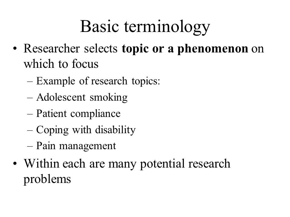 research topic questions examples