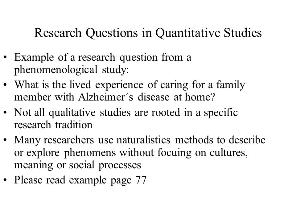 Research questions.