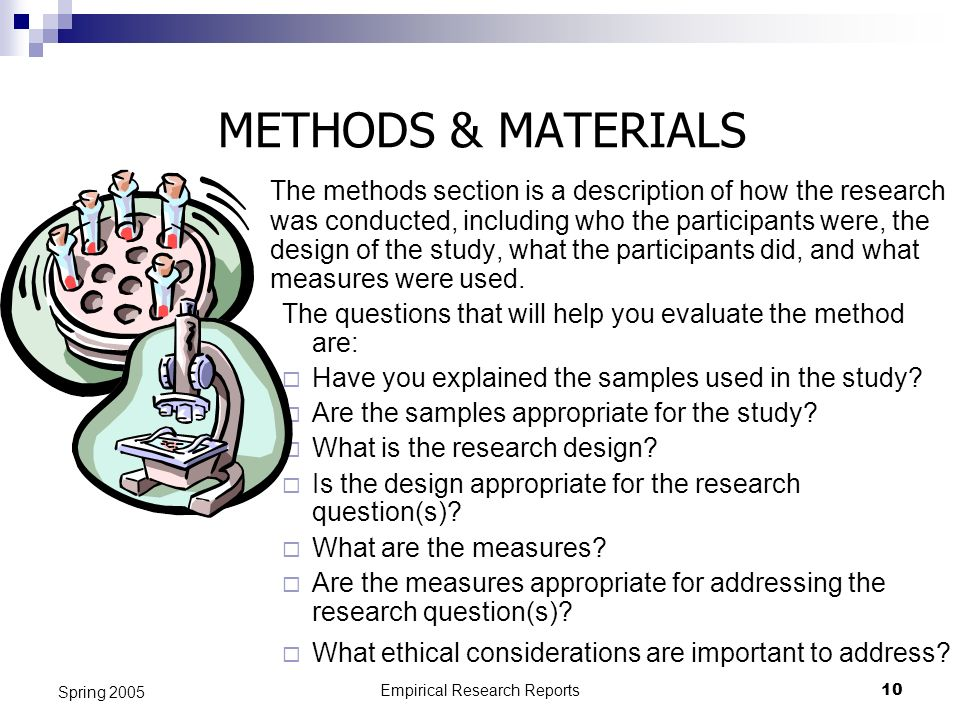 Empirical Research Reports