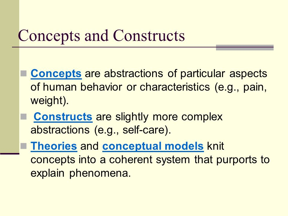 Concepts and Constructs
