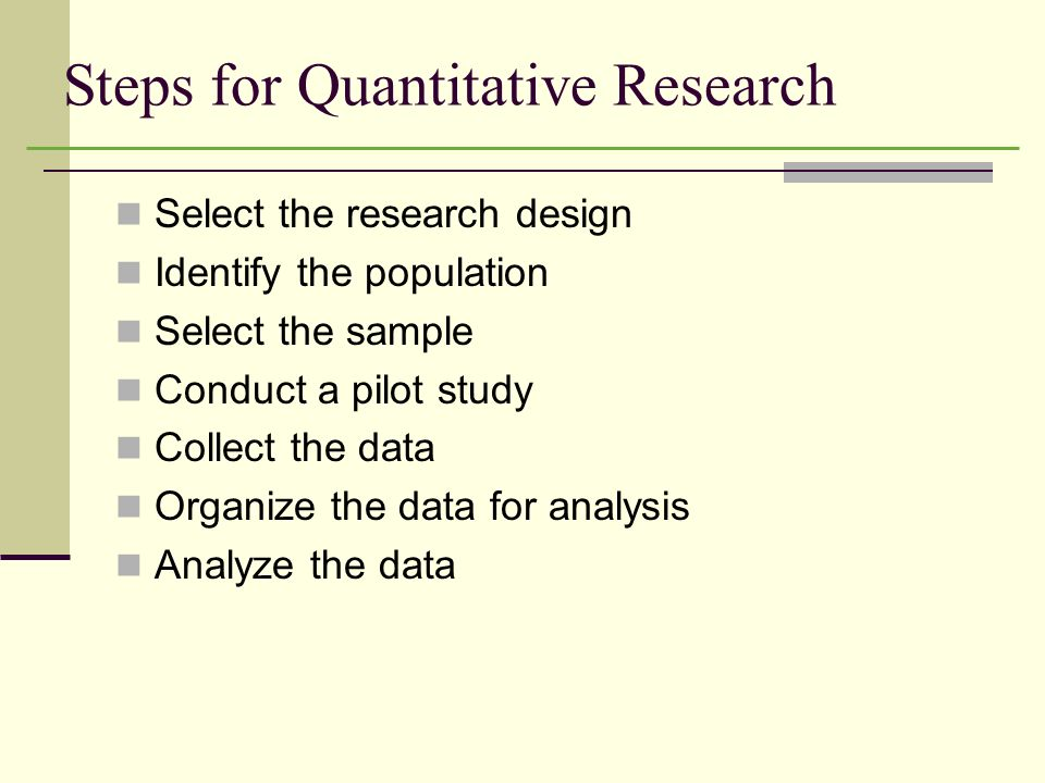 Chapter 3 An Overview of Quantitative Research - ppt video