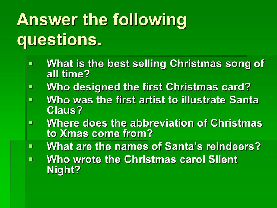 11 answer the following questions what is the best selling christmas song of all time - Best Selling Christmas Song Of All Time