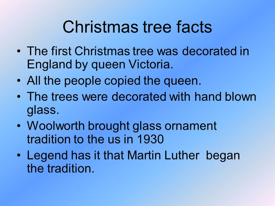 3 christmas tree facts