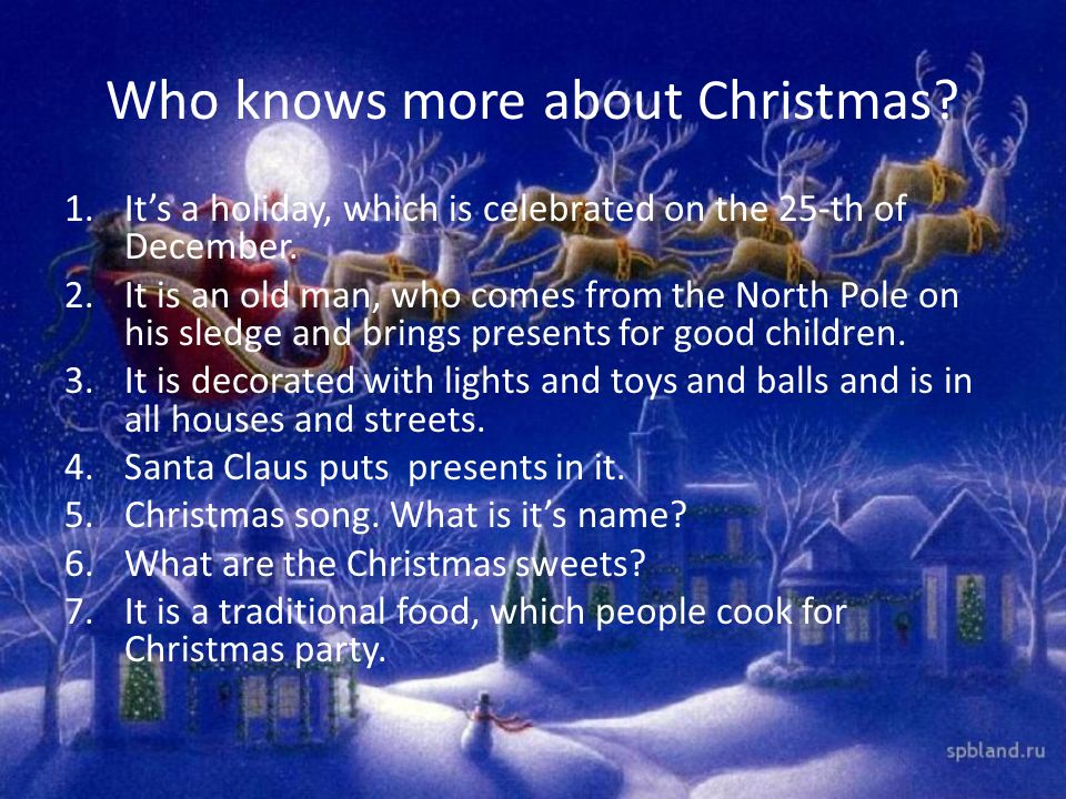 Who knows more about Christmas