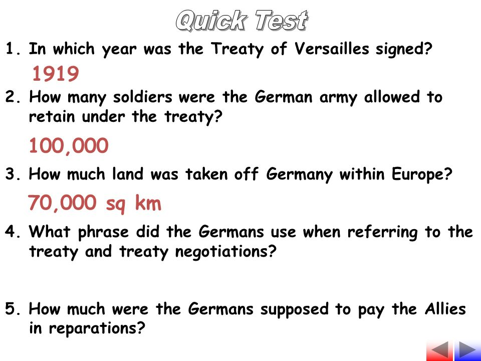the events that led to the treaty of versailles in germany The treaty of versailles left germany in ruins, politically and economically, which helped hitler's rise to power how the treaty of versailles contributed to hitler's rise search the site go.