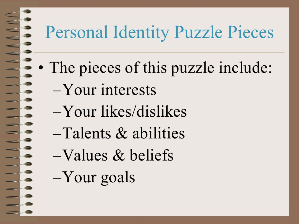 Personal Identity Puzzle Pieces
