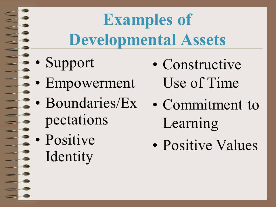 Examples of Developmental Assets