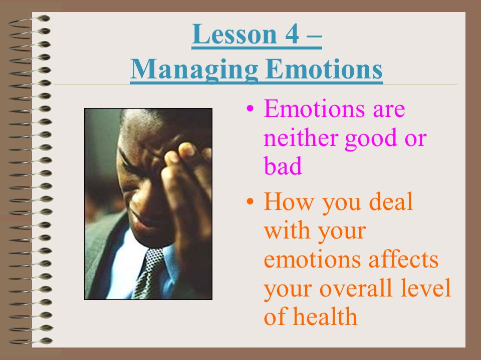 Lesson 4 – Managing Emotions