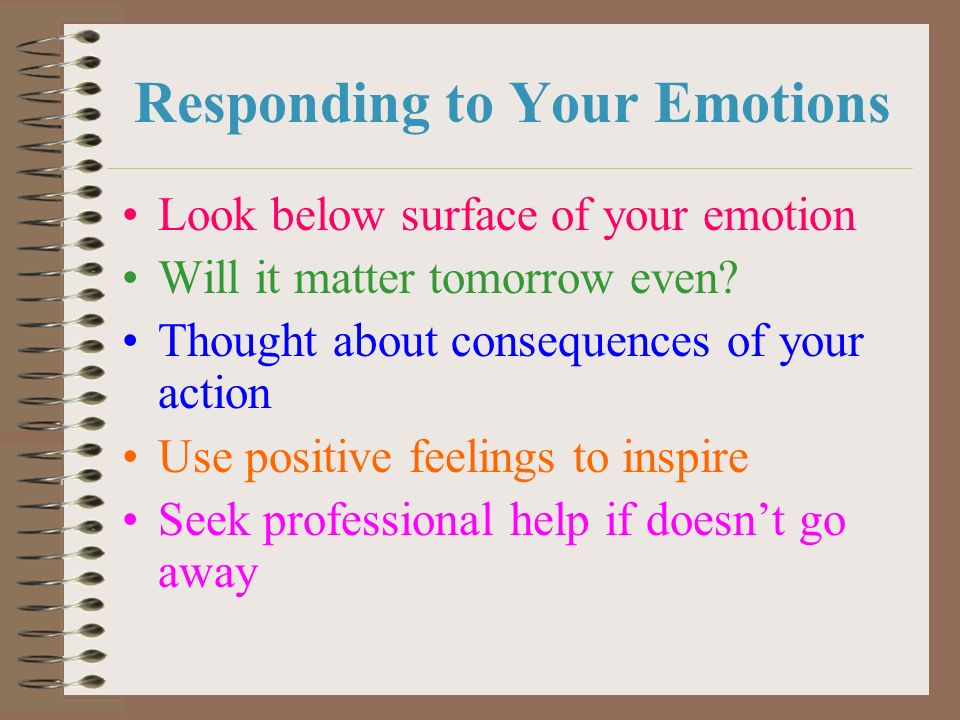 Responding to Your Emotions