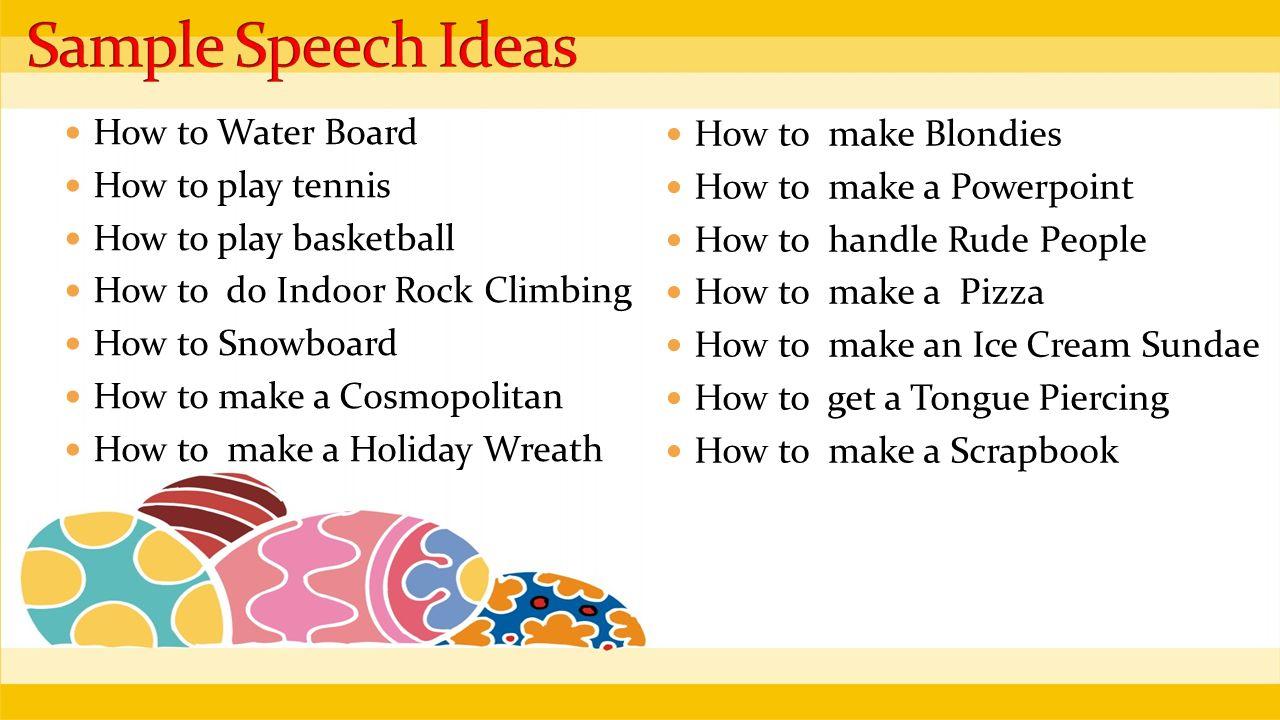 sample speech topics