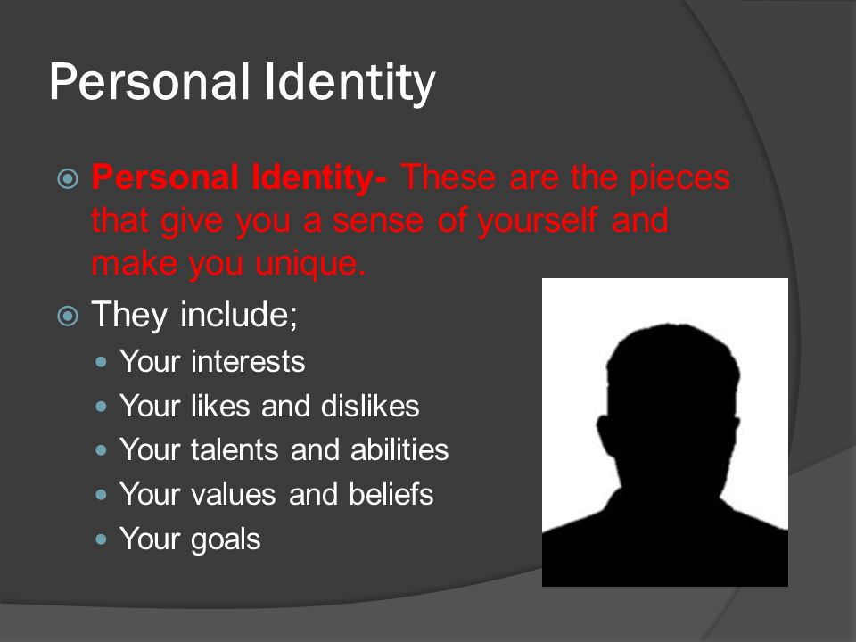 identity what does it mean