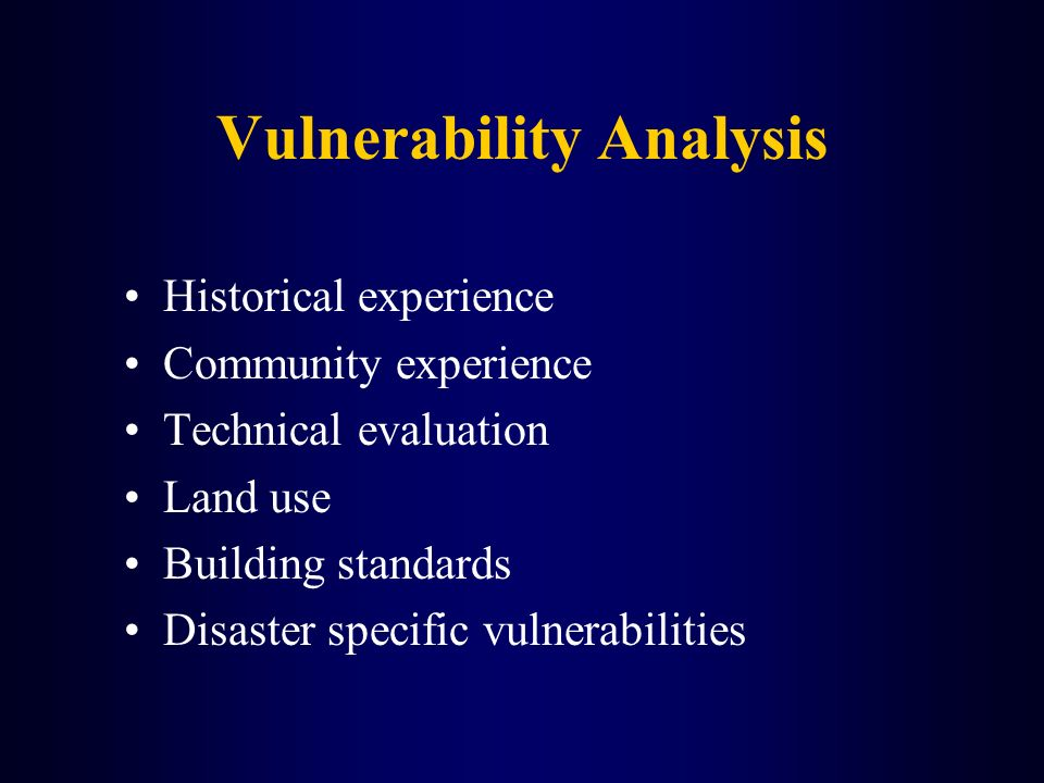 Vulnerability Analysis