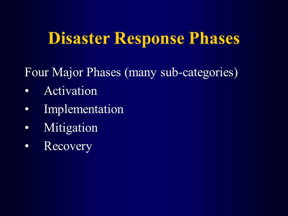 Disaster Response Phases
