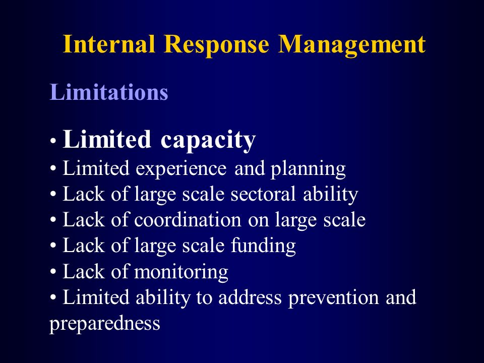 Internal Response Management