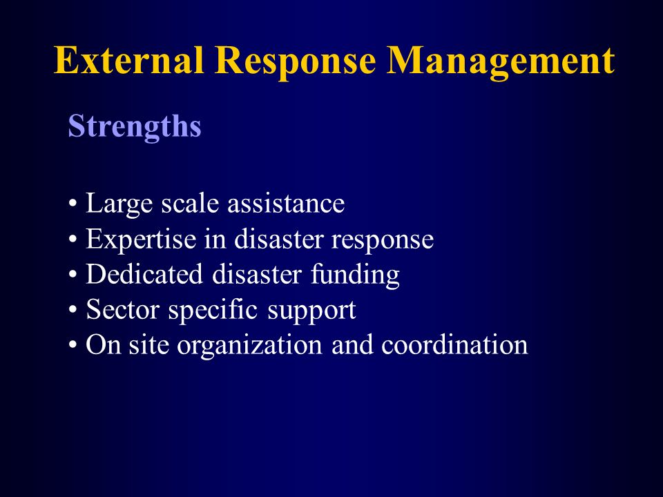 External Response Management