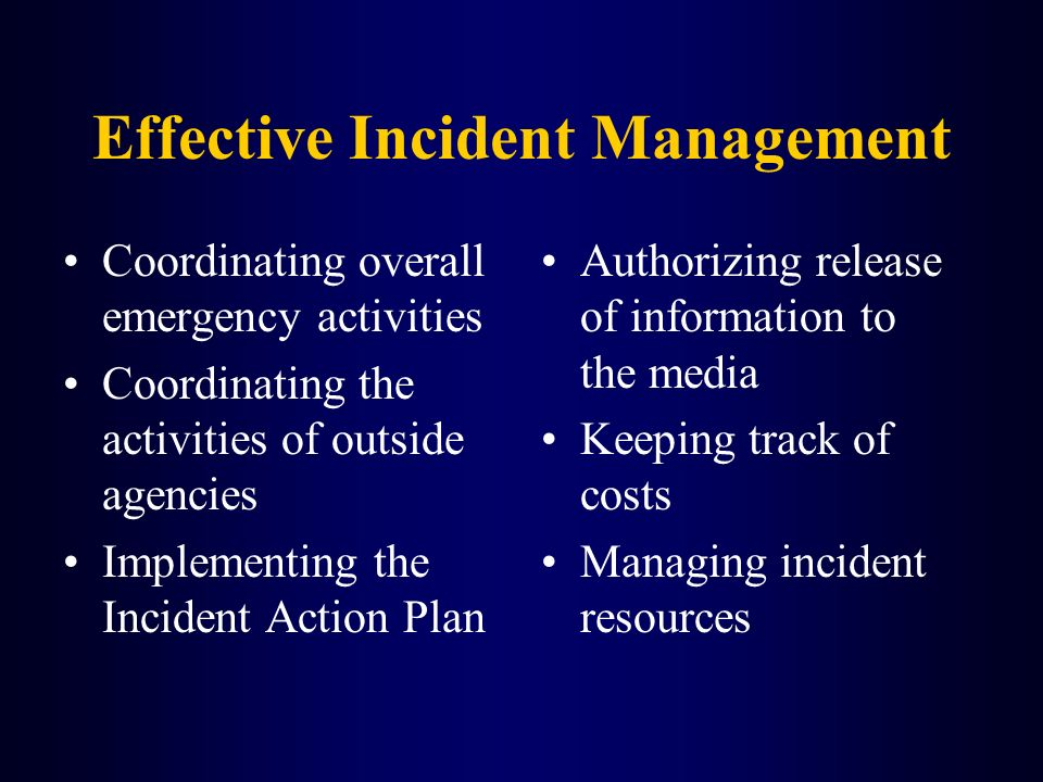 Effective Incident Management