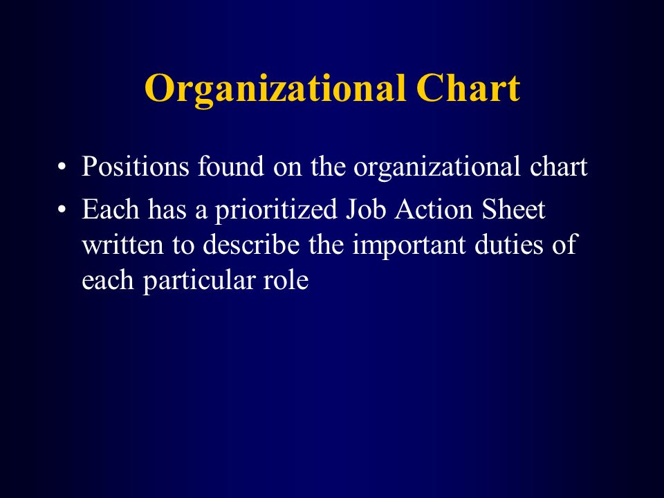 Organizational Chart Positions found on the organizational chart