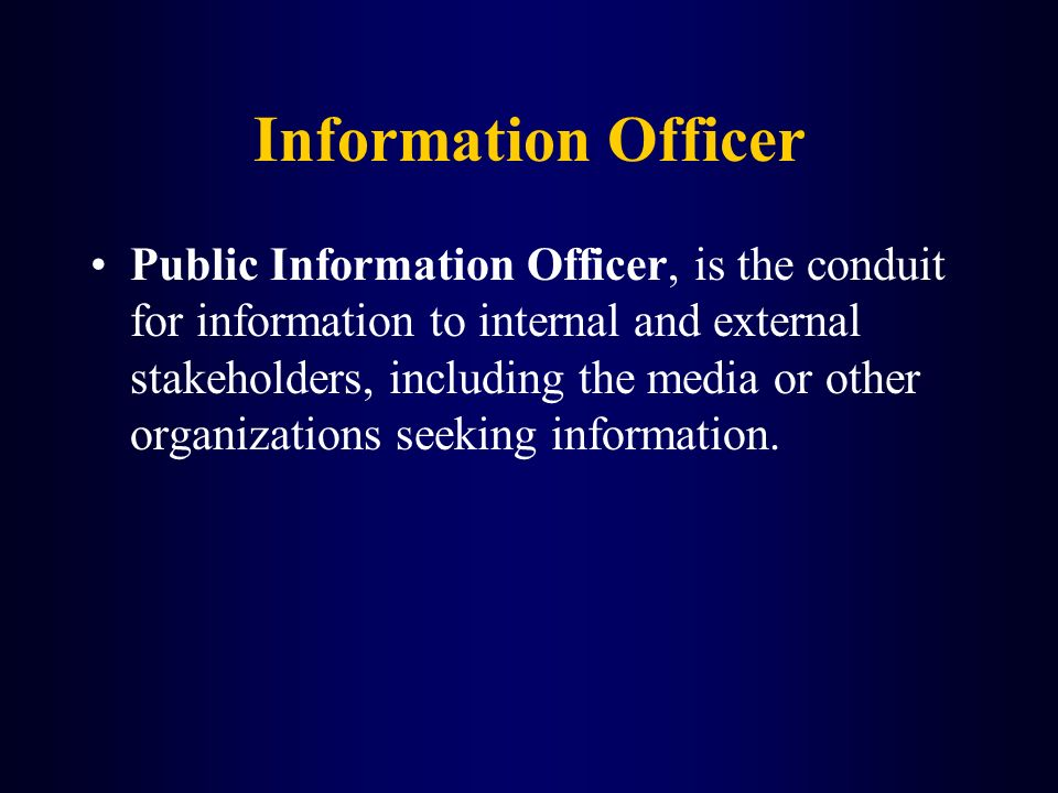 Information Officer