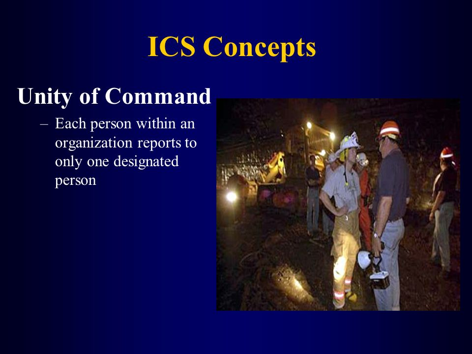 ICS Concepts Unity of Command