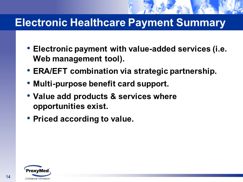 Electronic Healthcare Payment Summary