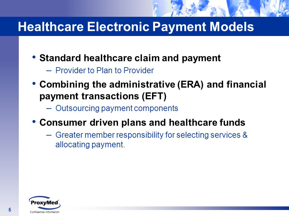Healthcare Electronic Payment Models