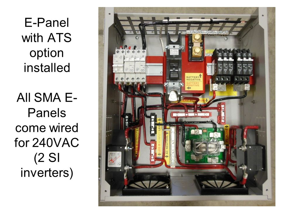 Ac couple ppt video online download 22 e panel with ats option installed all sma e panels come wired for 240vac 2 si inverters asfbconference2016 Choice Image