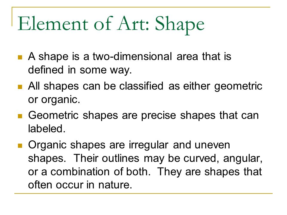 Madison : Two dimensional shapes meaning