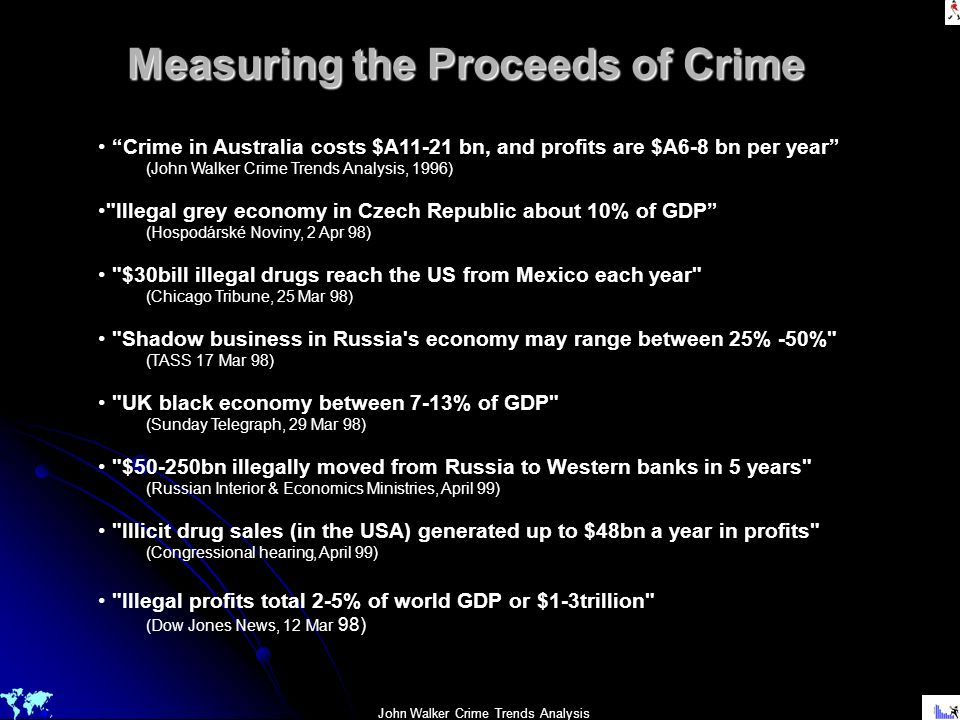Measuring the Proceeds of Crime