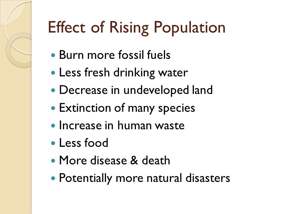 Effect of Rising Population