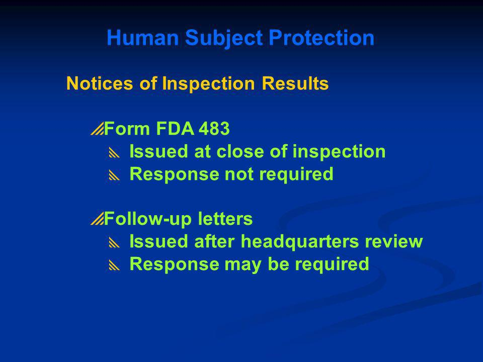 Human Subject Protection