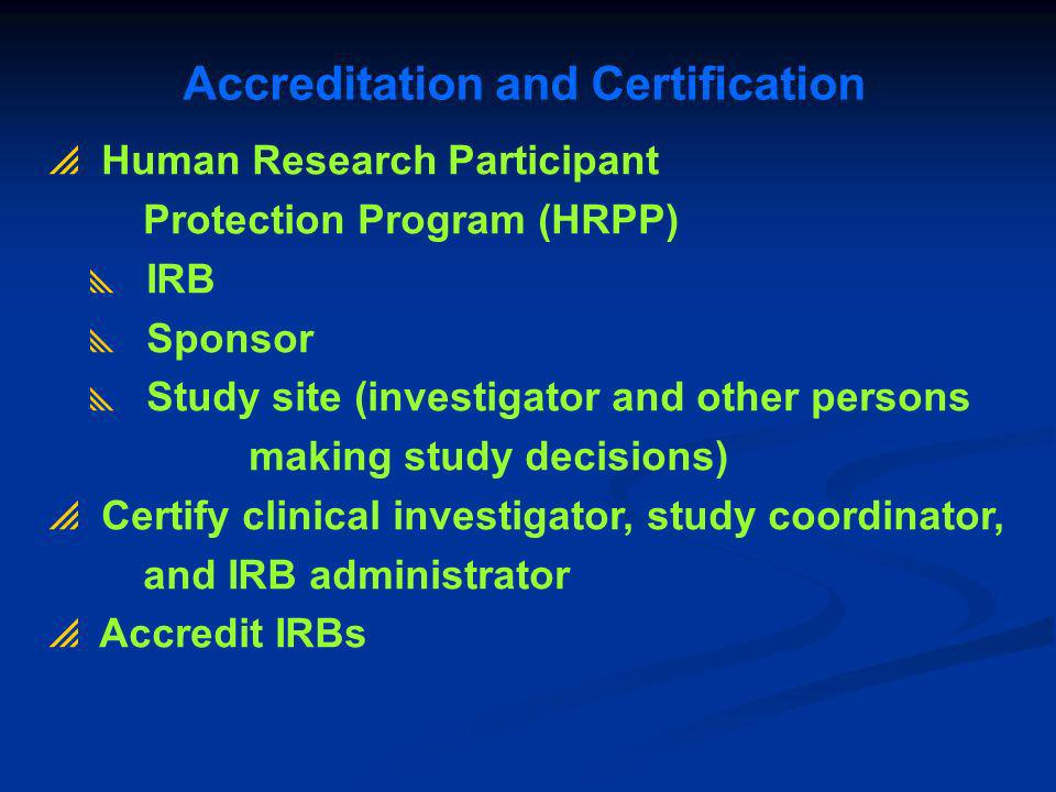 Accreditation and Certification