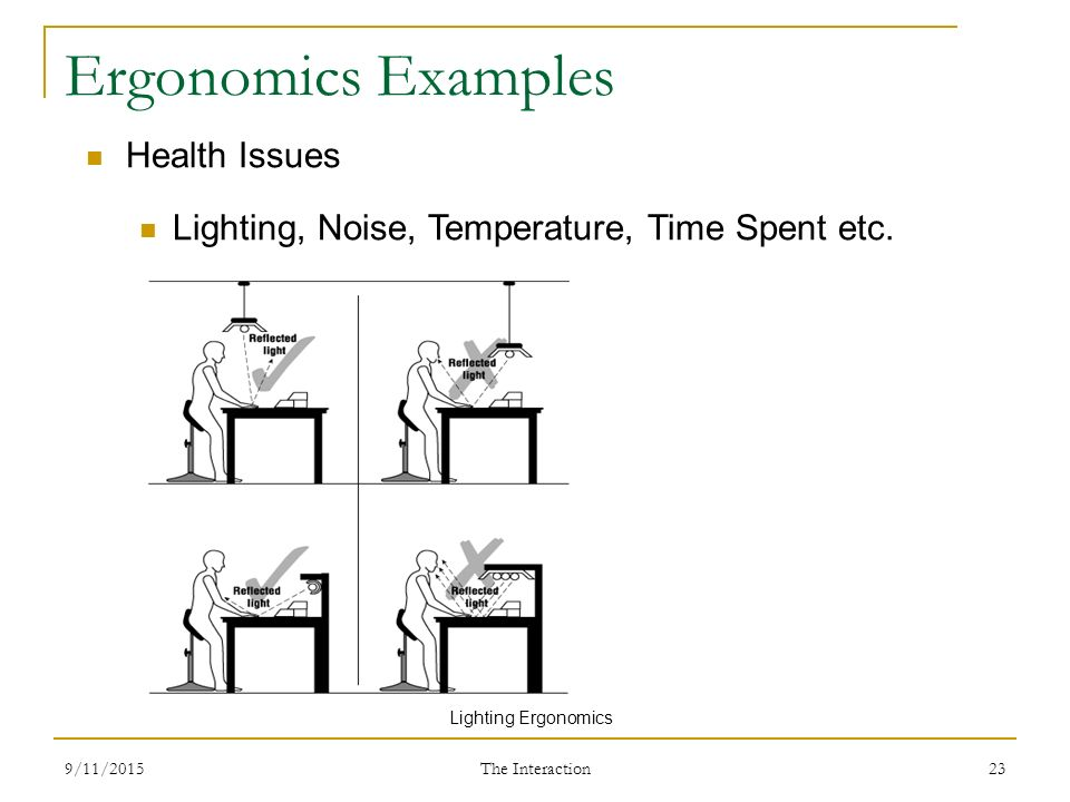 23 Ergonomics Ex&les Health Issues Lighting ...  sc 1 st  SlidePlayer & Human Computer Interaction - ppt video online download