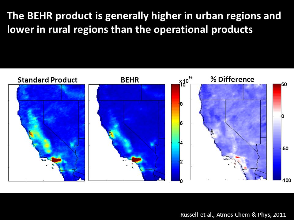 AQUA AURA The Berkeley High Spatial Resolution(BEHR) OMI NO2
