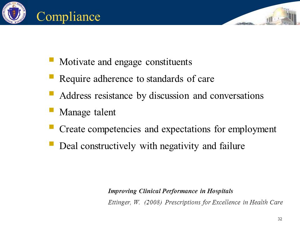 Compliance Motivate and engage constituents