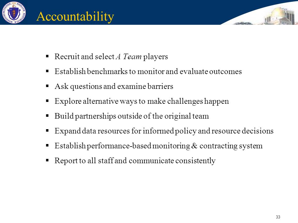 Accountability Recruit and select A Team players