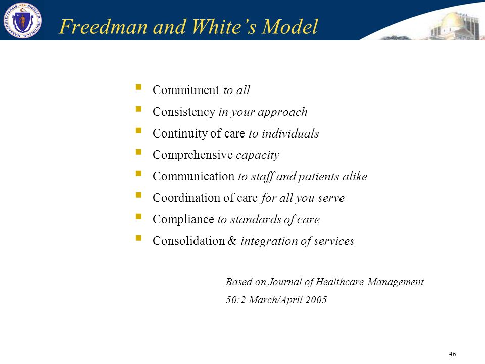 Freedman and White's Model