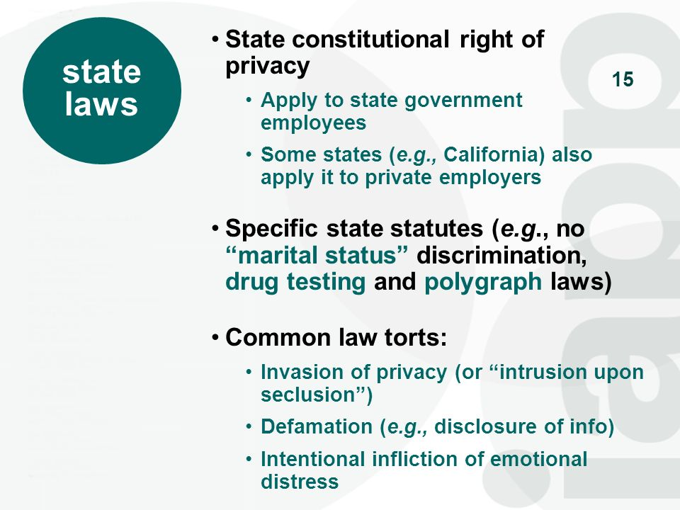 state laws State constitutional right of privacy