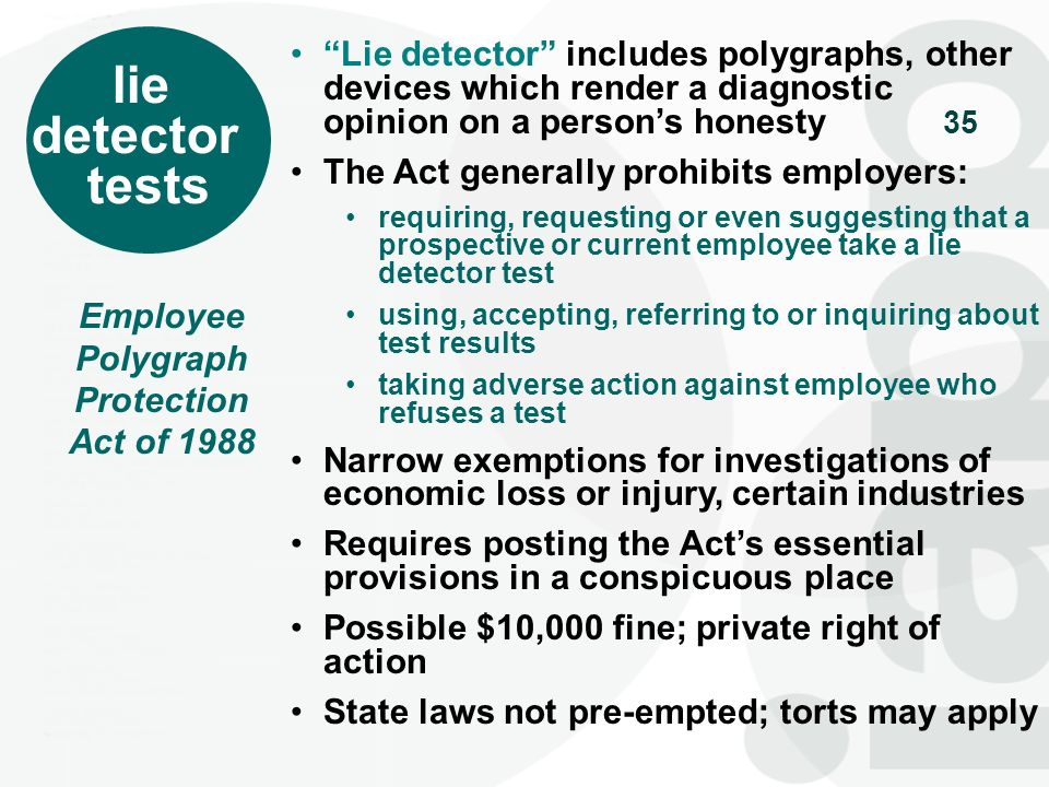 Employee Polygraph Protection Act of 1988