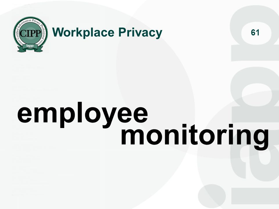 Workplace Privacy employee monitoring