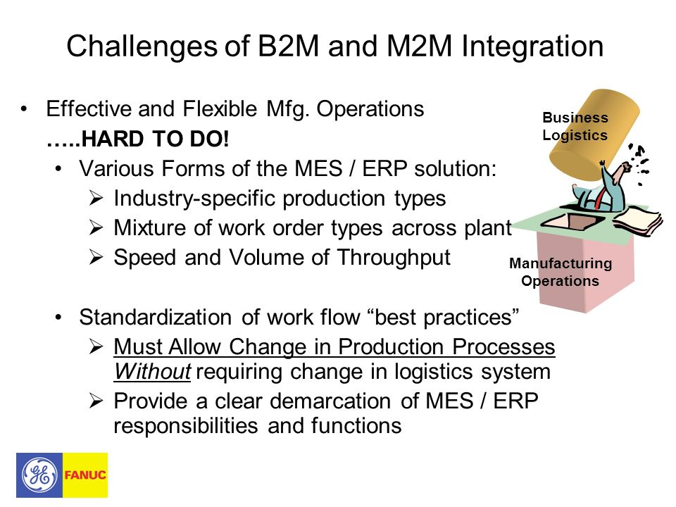 Challenges of B2M and M2M Integration