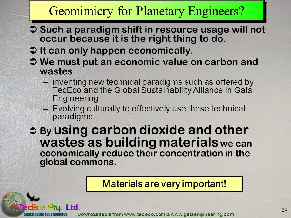 Geomimicry for Planetary Engineers