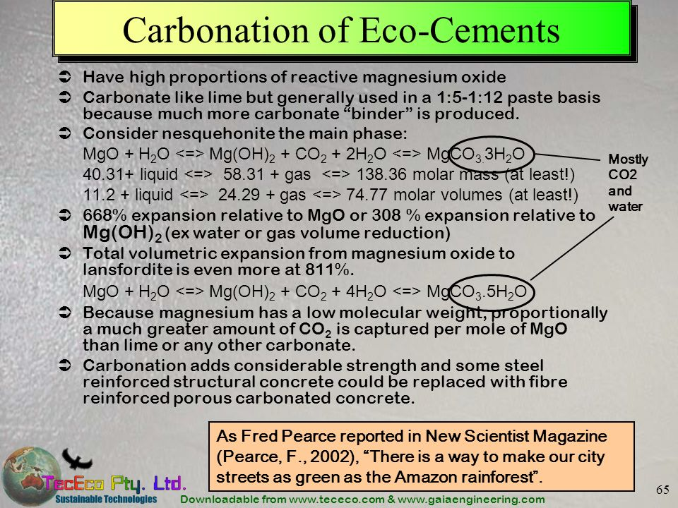 Carbonation of Eco-Cements