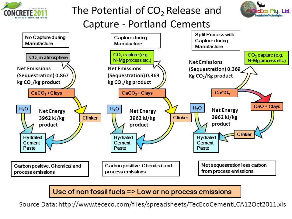 The Potential of CO2 Release and Capture - Portland Cements