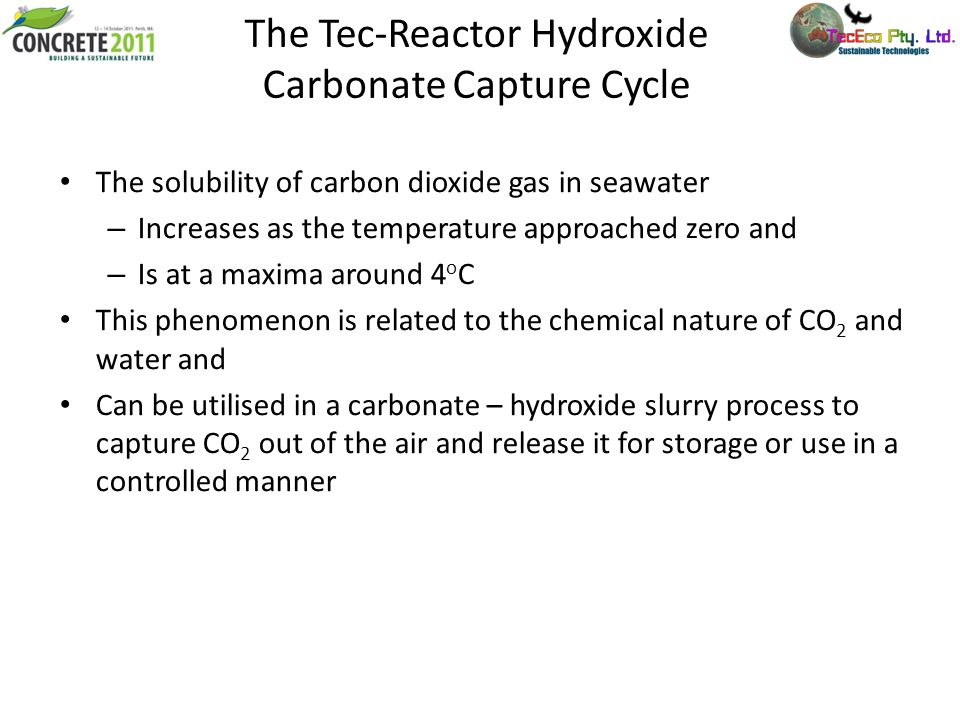 The Tec-Reactor Hydroxide Carbonate Capture Cycle