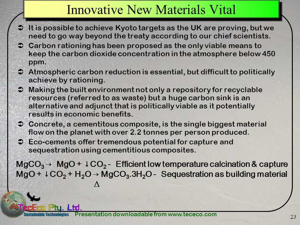 Innovative New Materials Vital